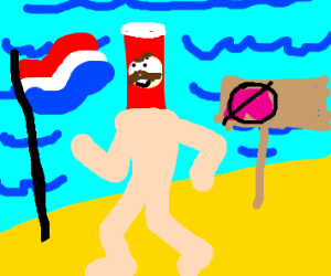 The guy from the pringles chips is european