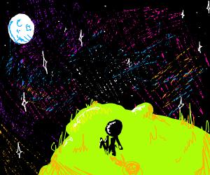 Staring at a galaxy