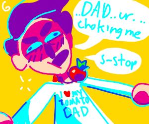 tomato strangles his human son