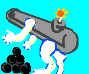 cannon with limbs
