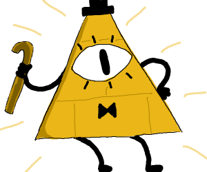 Triangle with one eye from gravity falls
