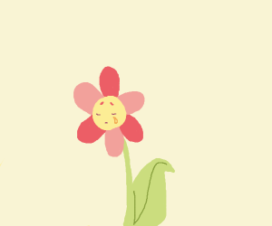 Sad flowers cries nectar