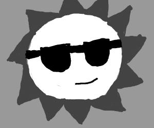 Grey scale sun