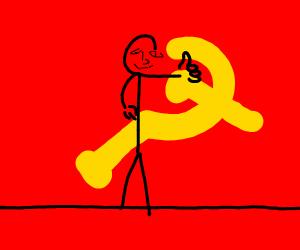 stick figure uwu man likes communism