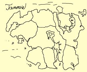 Map of the elder scrolls world (w/o summerset