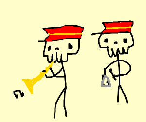 Skeleton marching band