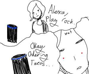 Alexa orders tacos when asked to play rock