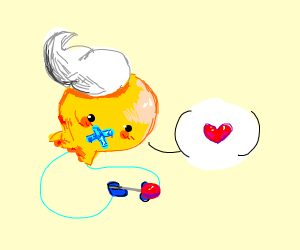 Shiny Drifloon with a tiiiiiny lollipop.
