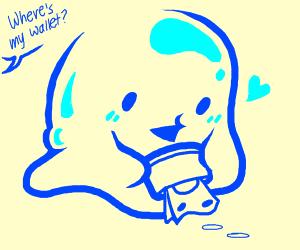 Blue blob steals your wallet