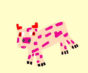 evil minecraft pig