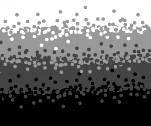 B/W bubble black at the bottom Gradient