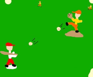 Playing baseball with two balls
