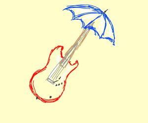 A guitar-umbrella hybrid