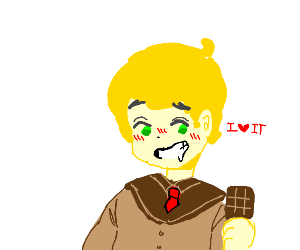 Guy likes chocholate