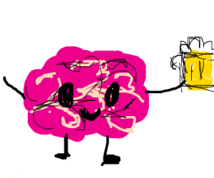 brain with a pint