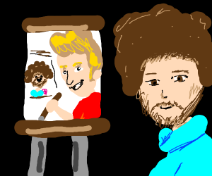 Bob Ross painting Jazza Painting Bob Ross