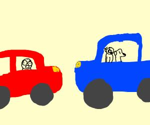 Moments before a car crash