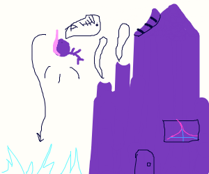 purple man fell over in his purple house