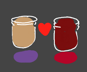 peanut butter + jelly = love