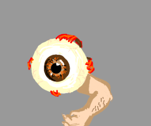 muscular eye with arm