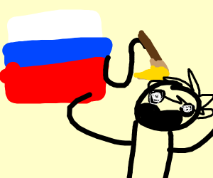 in russia, painting paint YOU!
