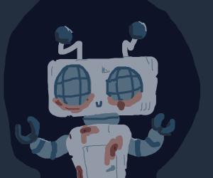 Muddy Happy litle robo dude c: