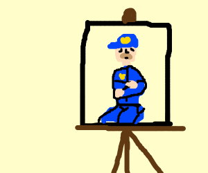 Police Officer Artwork