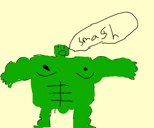 hulk in drawception