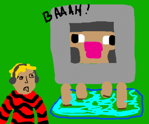 pewdiepie scared of water sheep
