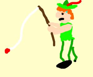 peter pan fishing but strugeling