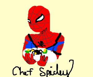 Spiderman's spider cuisine