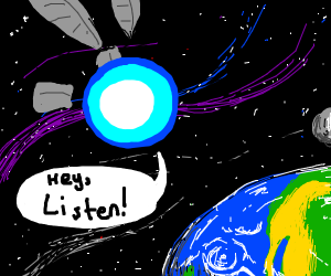 giant navi telling earth to listen