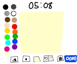 A blank drawception Page drawn in drawception