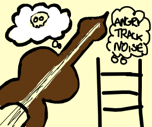 The violin dreads its death on the tracks
