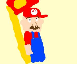 Mario Rides the Flagpole