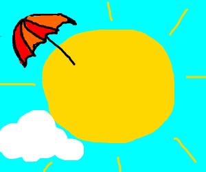 Umbrella on the Sun