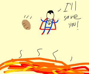 Save the potato from lava