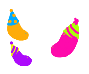 Jelly beans with Party Hats