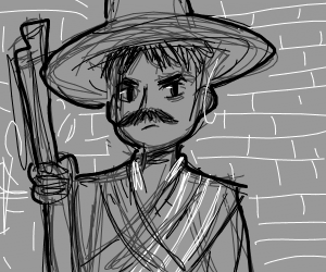 A Guy wearing a sombrero