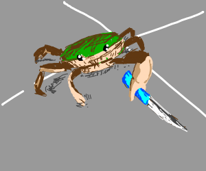 Knife-wielding crab