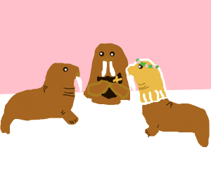 Walrus wedding