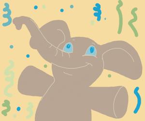 confetti elephant