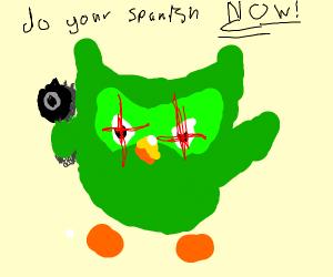 Duolingo asks you to do your Spanish N O W