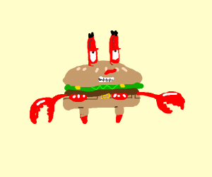 Mr krabs been turned delicious