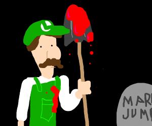 Mario is dead and Luigi killed him.