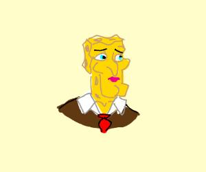 handsome squidward but spongebob