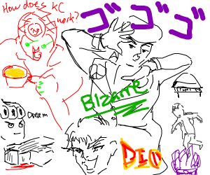Desribe jojos all in one drawing