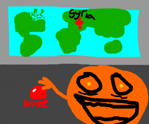 Annoying Orange will nuke Syria