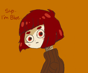 Red person is named Blue