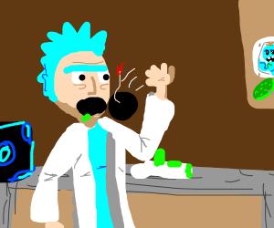Rick eating bombs